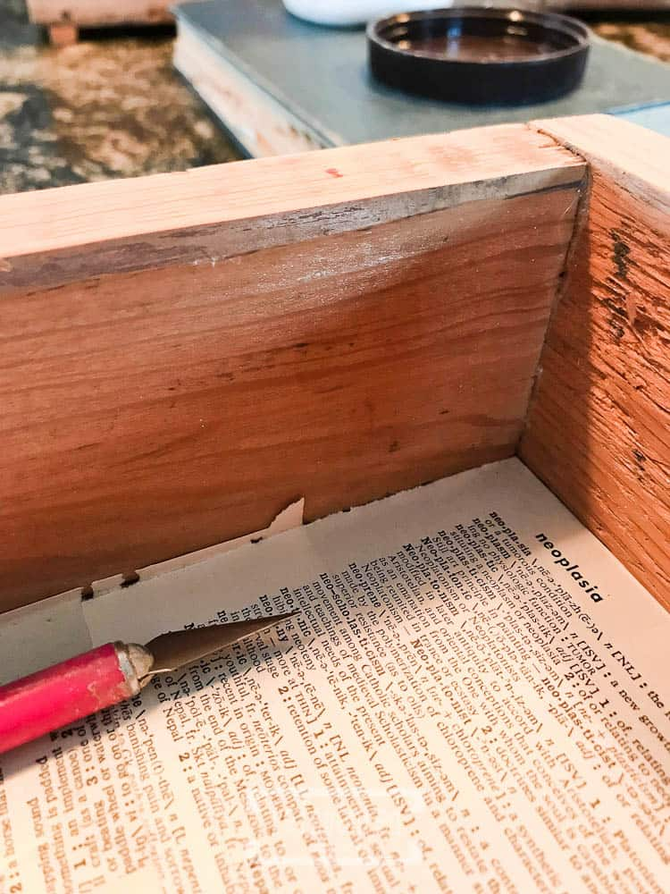 Mod Podge Book Pages