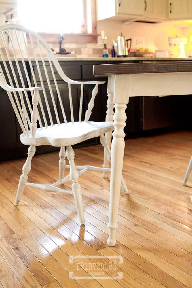 Farmtable Makeover using Miss Mustard Seed Milk Paint