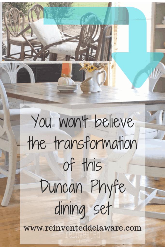 Duncan Phyfe Dining Set Transformation