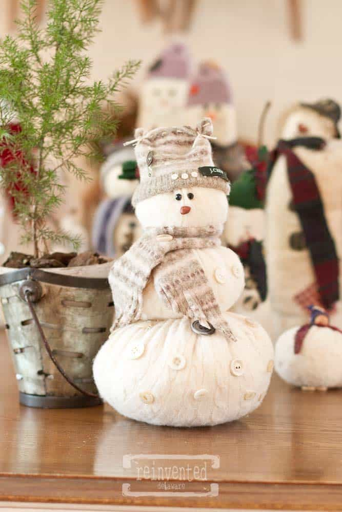 Sweater Snowman DIY Christmas Project