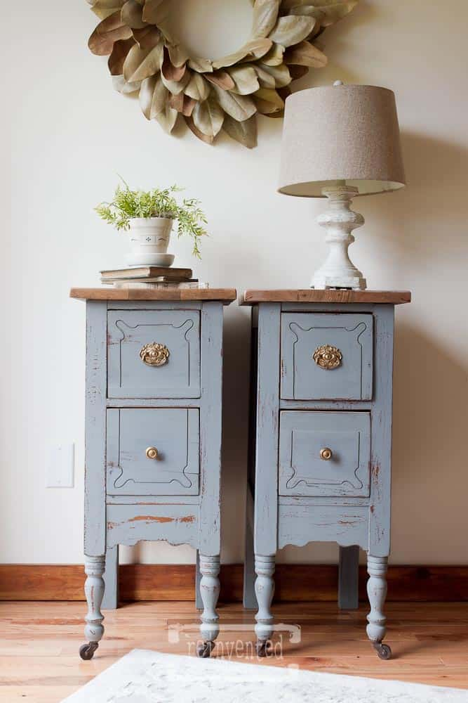 How to Transform a Vintage Vanity into Nightstands