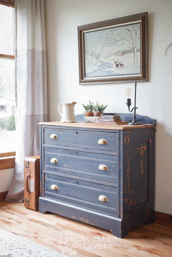 Antique Dresser Transformed with Artissimo Milk Paint