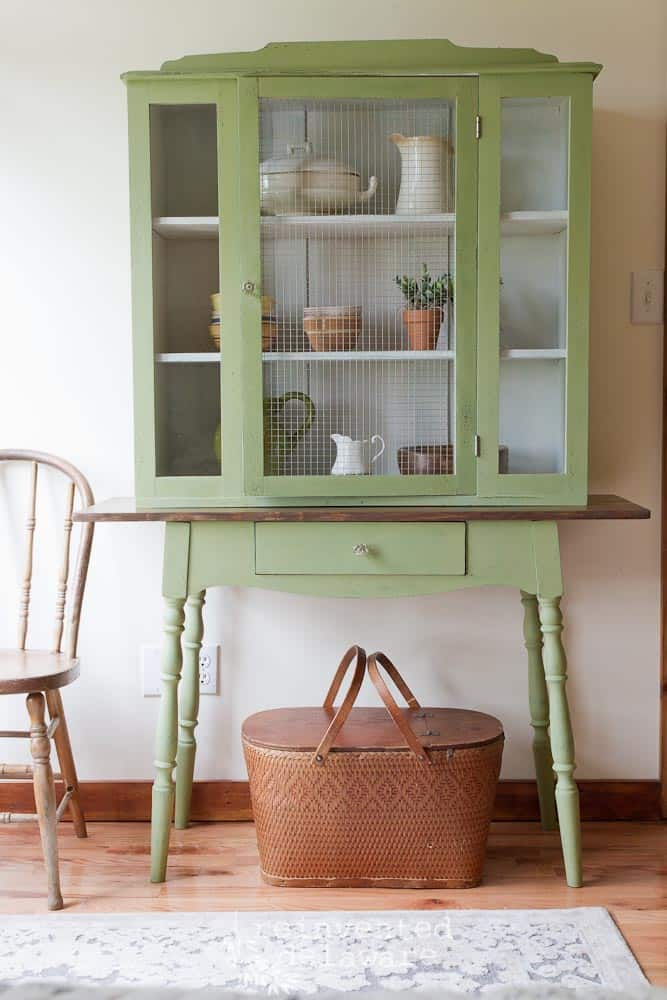 antique hutch makeover-29