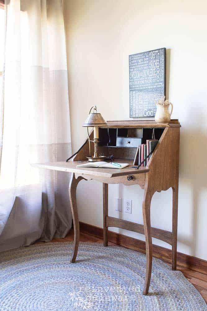 Antique Oak Fold Down Desk | The After