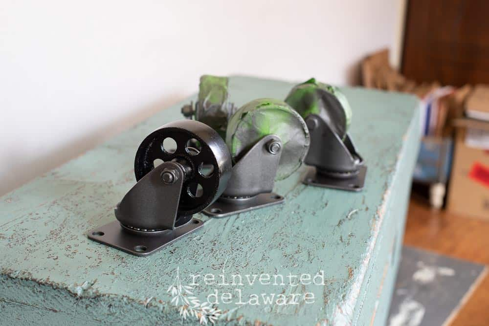 spray painting caster wheels