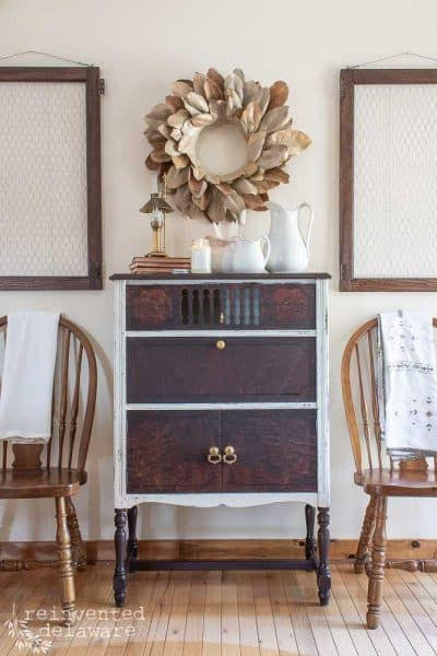 Furniture Makeover Before and After |Radio Cabinet