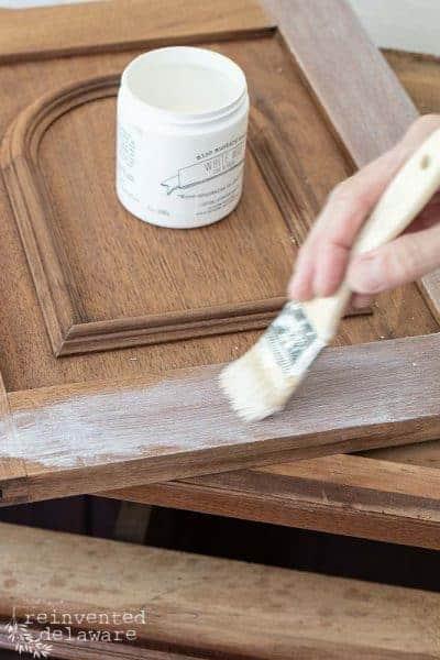 How to White Wax Dark Furniture