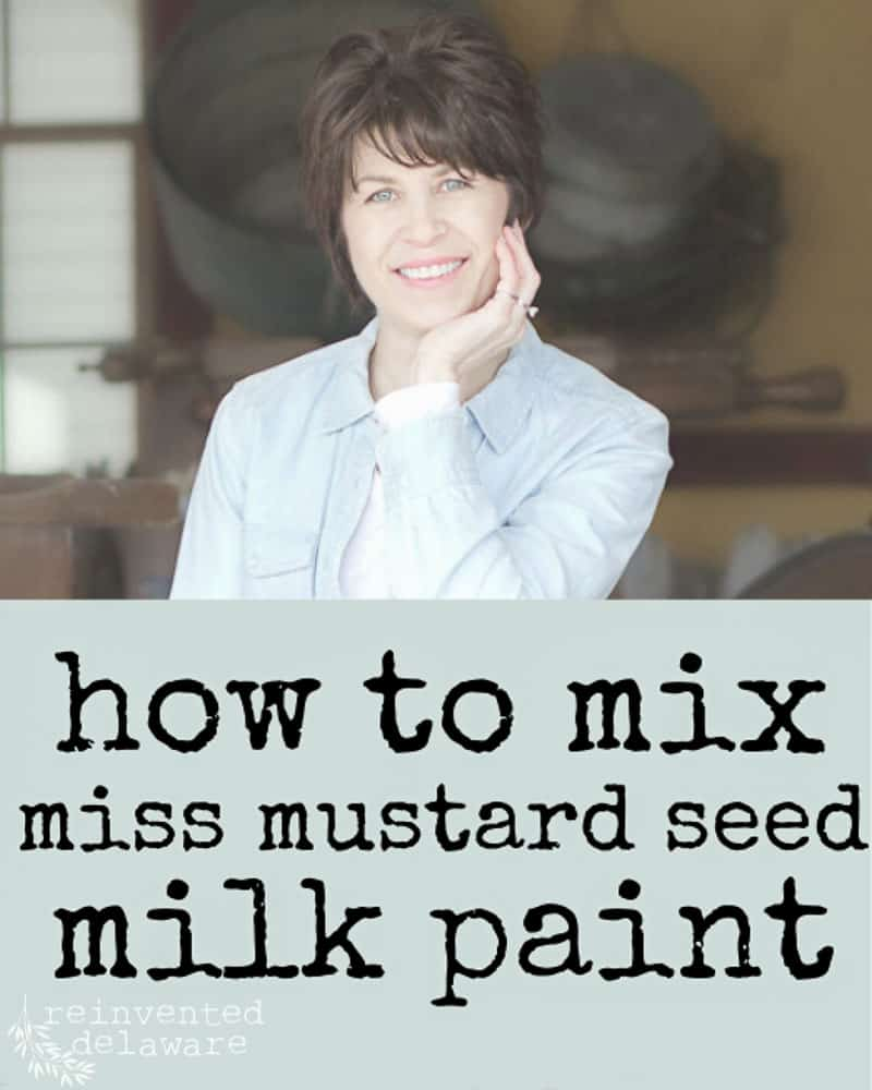 How to Mix Miss Mustard Seed Milk Paint
