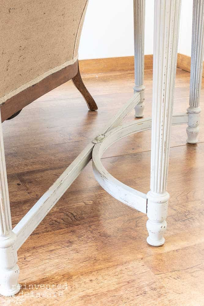 Remember the 1980's glass insert tables that were used as a sofa table??  Today, we will show you how a restyled sofa table was brought into today's farmhouse style that we all love! #refinishedfurniture #restyledfurniture #restyledfurniture