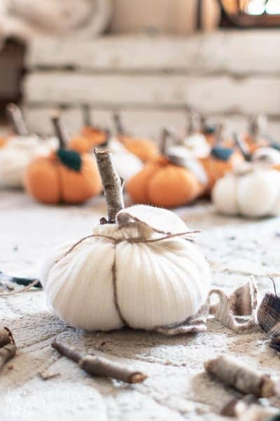 Thrifted Sweater Pumpkins