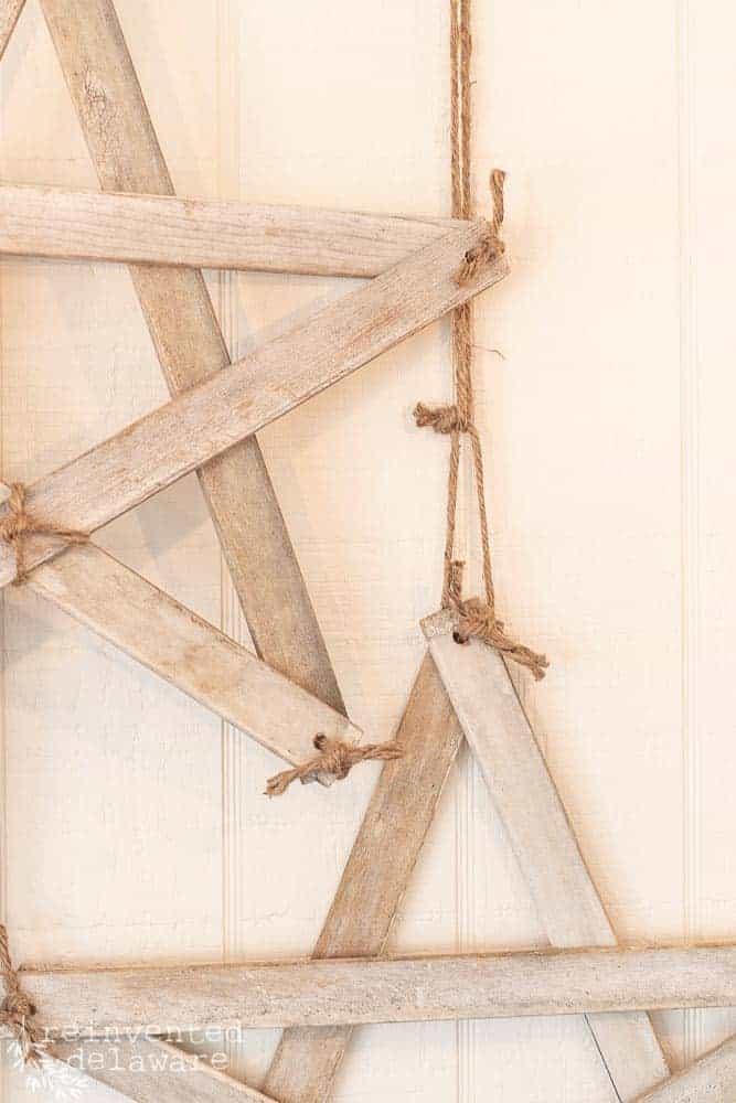 close-up shot of handmade farmhouse style stars