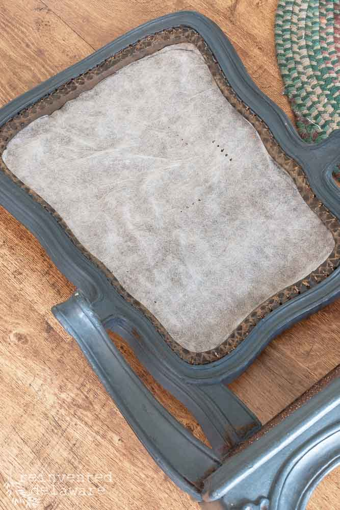 making pattern to cut foam for upholstered chair