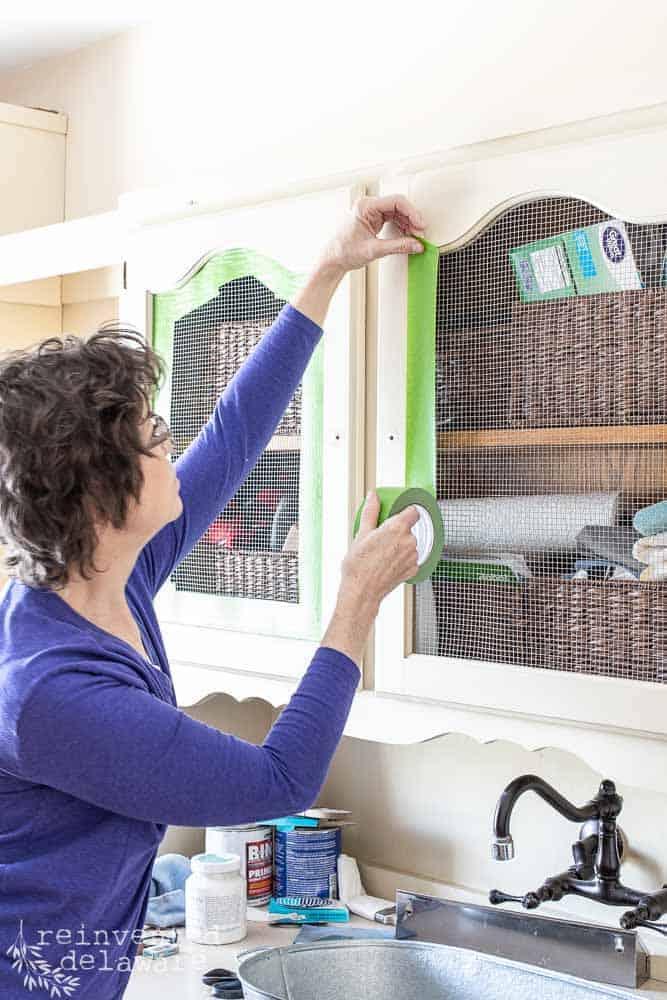 Tips for Applying Painter's Tape | Laundry Room Refresh
