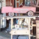 How to Clean Rust off Antique Metal  Toy Fire Truck