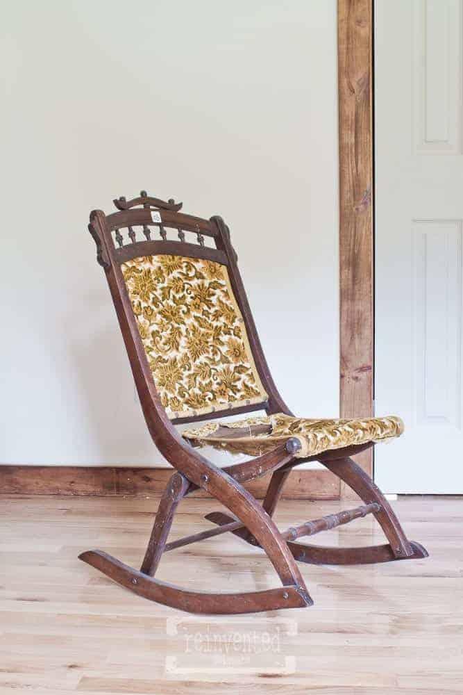 before image of eastlake folding rocking chair