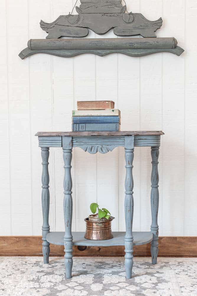 Demilune Table Makeover