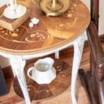 Restoration of Furniture | Wood Inlay Side Table