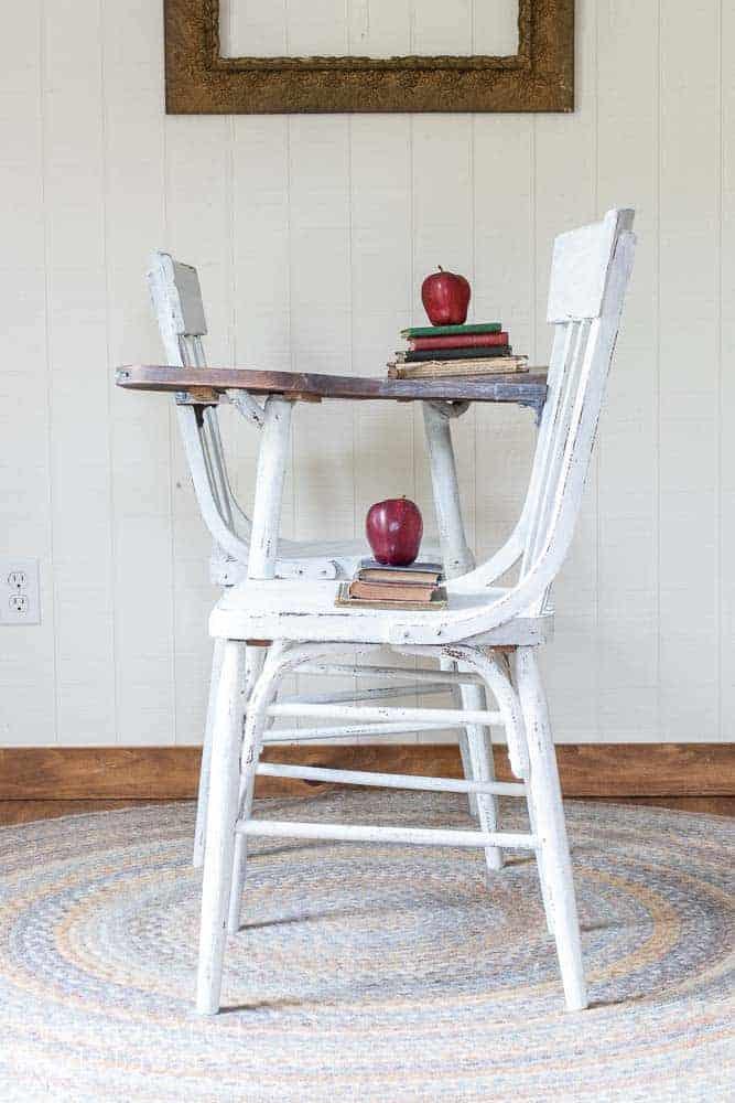 Easy Chair Seat Repair | Antique School Desk Chair
