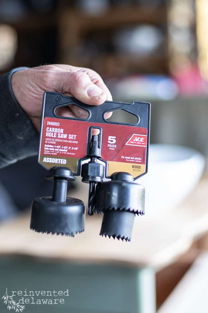 close up of specialty Carbon Hole Saw drill bits
