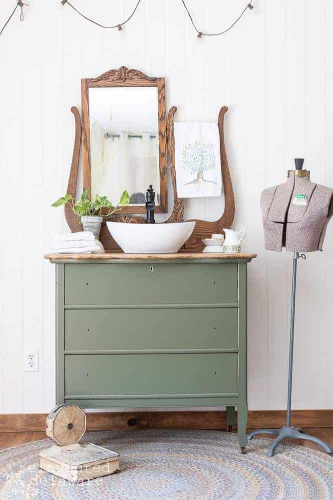 Repurposed Dresser Converted To Bathroom Vanity Reinvented Delaware