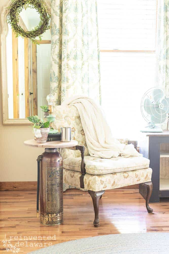 Antique Fire Extinguisher | Side Table
