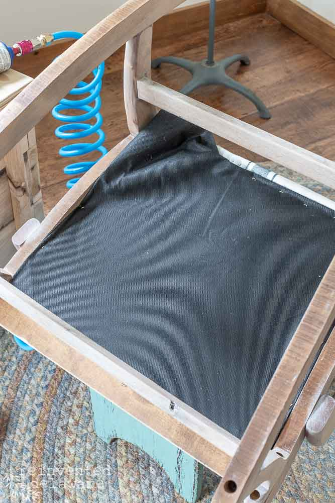 view of dust cover on the underside of rocking chair cover ideas blog post