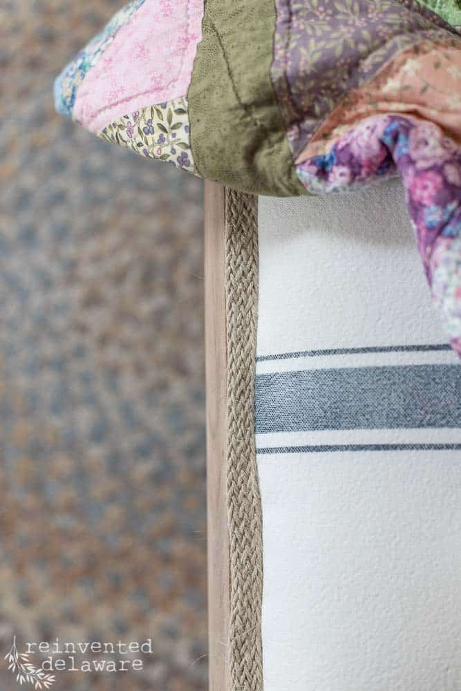 close up of jute braid trim on rocking chair covering ideas blog post
