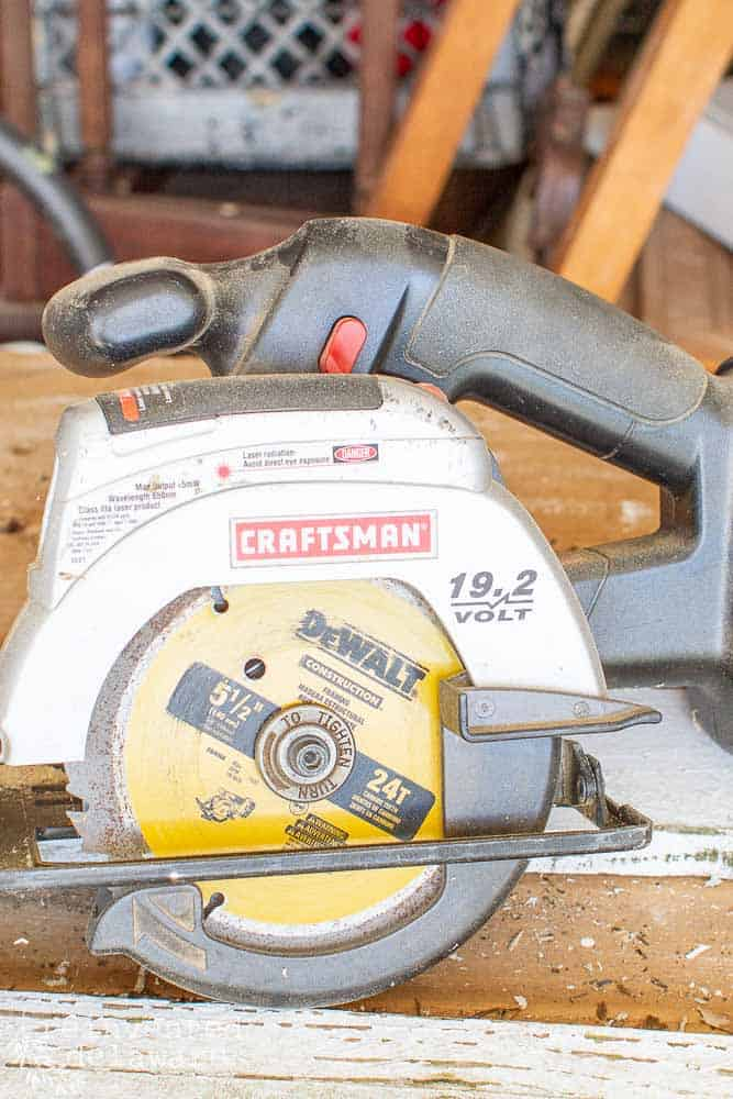 Craftsman circular saw used to cut pickets for projects