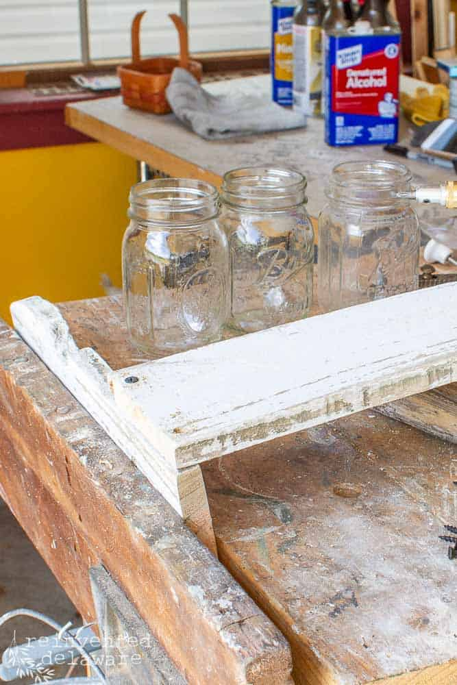 assembly of reclaimed picket fence crate
