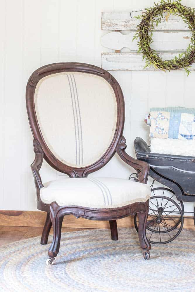 How to Recover a Chair | Victorian Chair