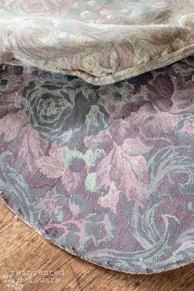 right side and wrong side of upholstery fabric