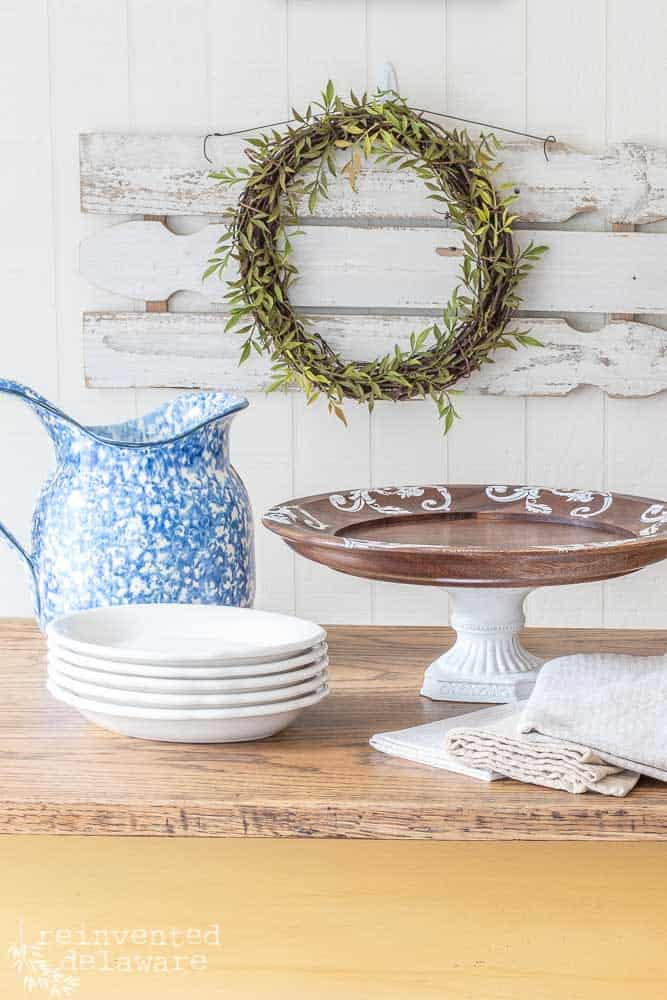 Thrift Store Home Decor | Easy Cake Stand